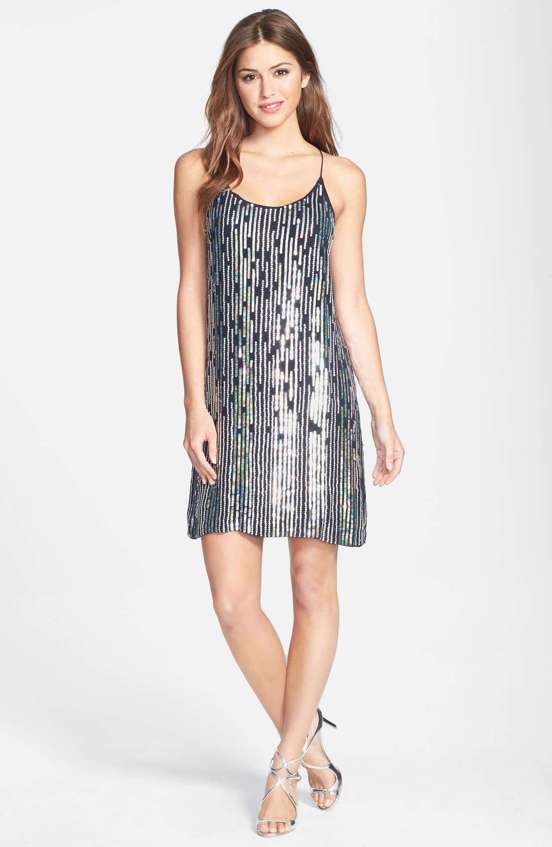 Alternate Image 3  - Nicole Miller Sequin Slipdress