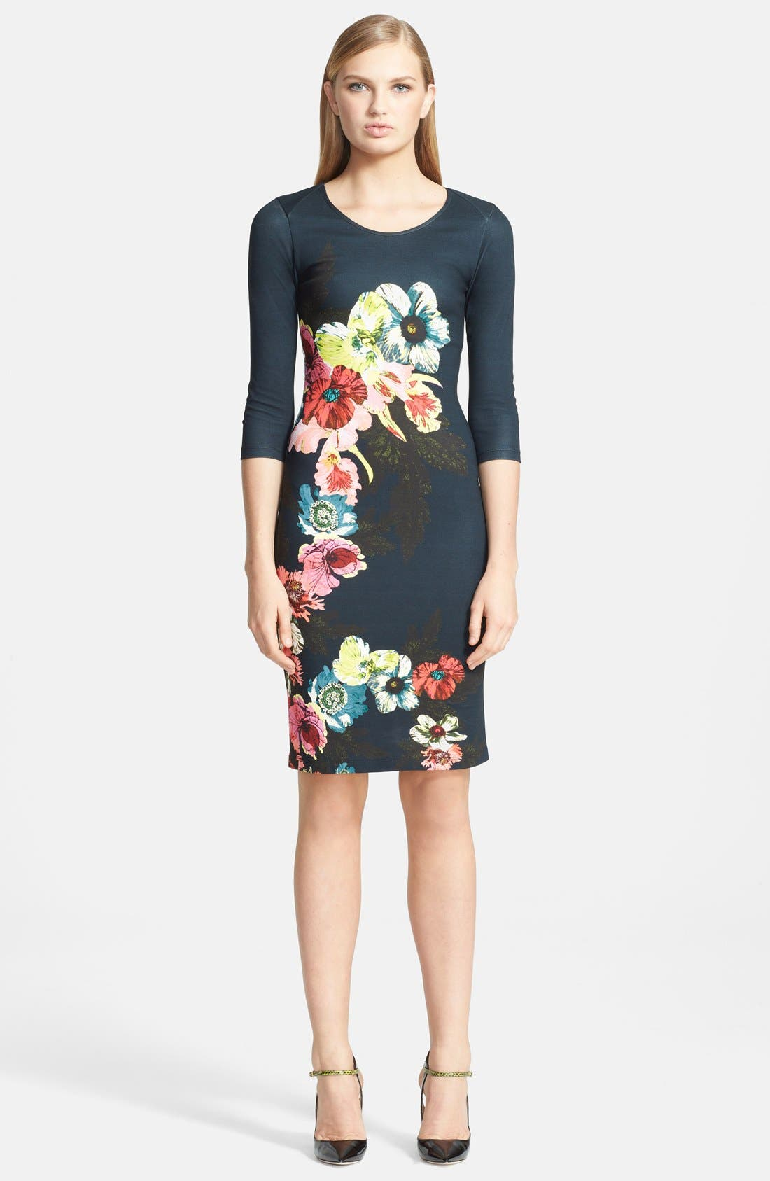 Main Image - Erdem 'St. Gall' Print Ponte Jersey Fitted Dress