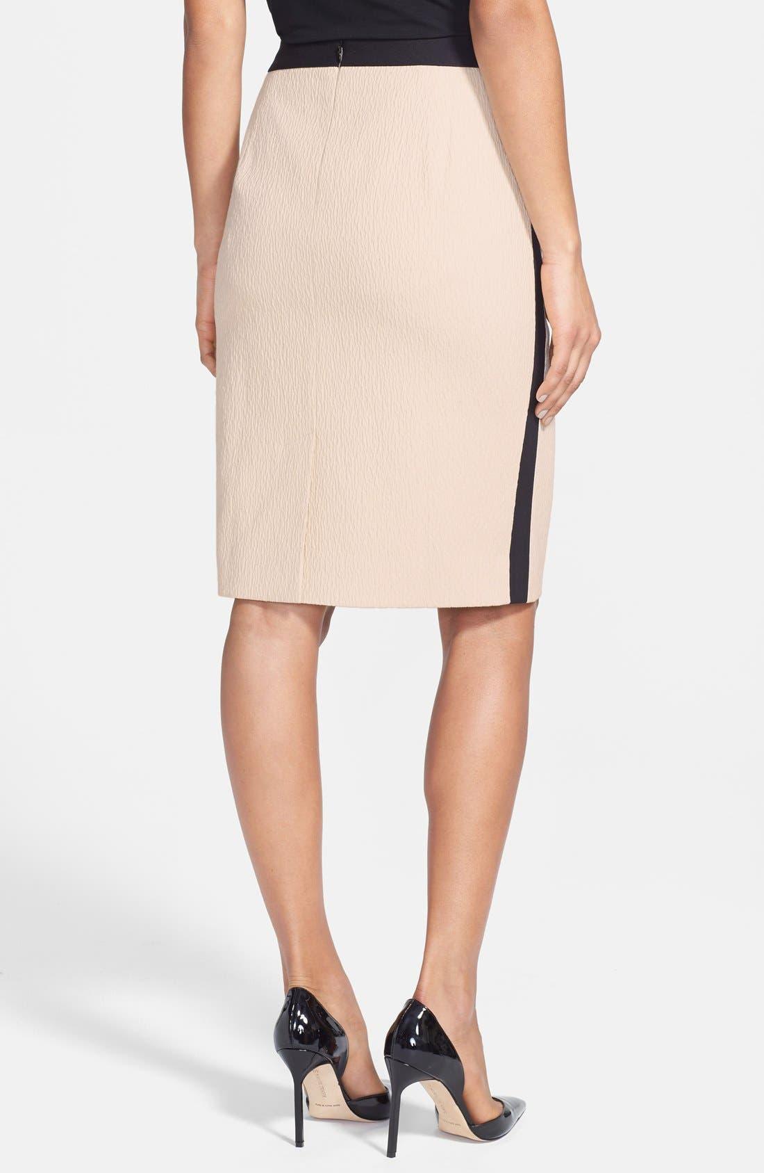 Alternate Image 2  - Classiques Entier® 'Reid' Textured Cotton Blend & Ponte Skirt