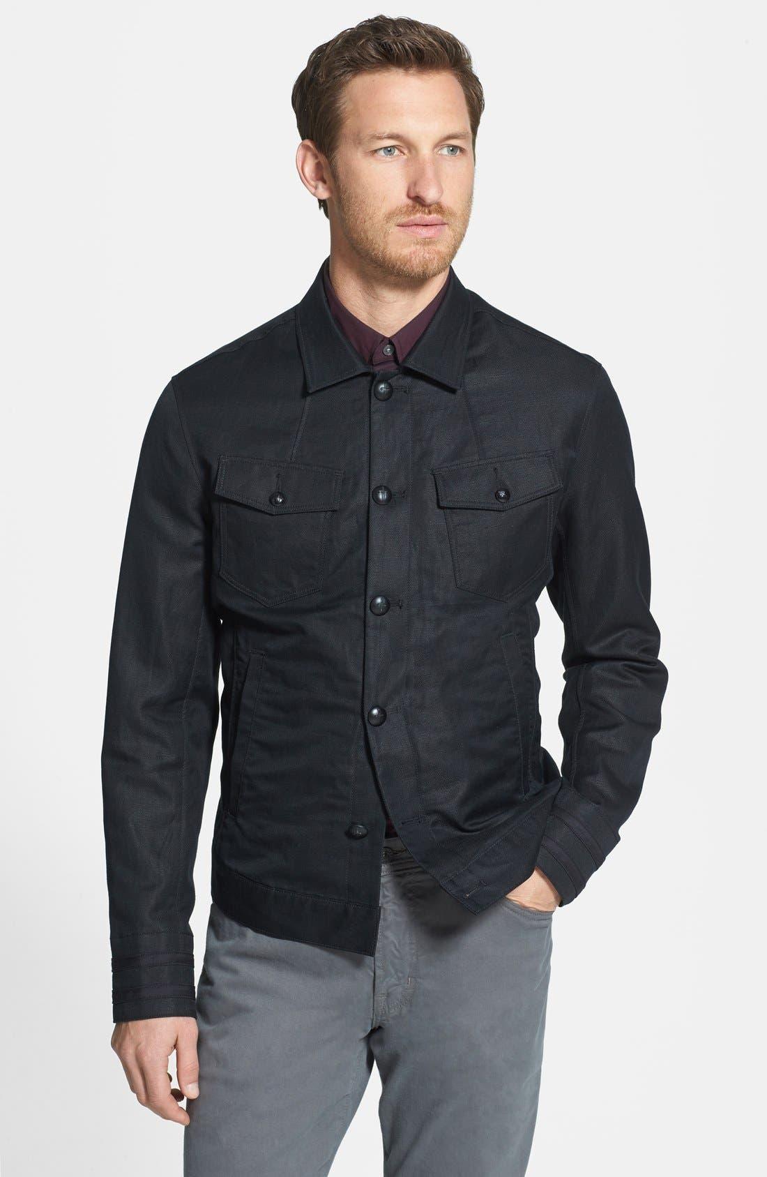 Main Image - John Varvatos Star USA Slim Fit Cotton & Linen Jacket