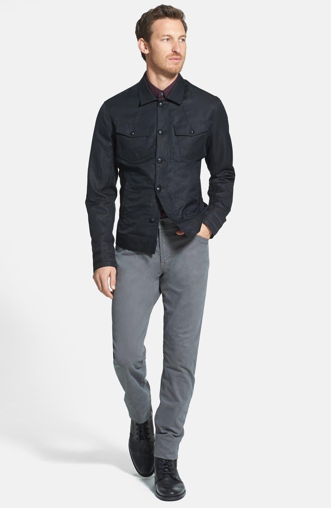 Alternate Image 4  - John Varvatos Star USA Slim Fit Cotton & Linen Jacket