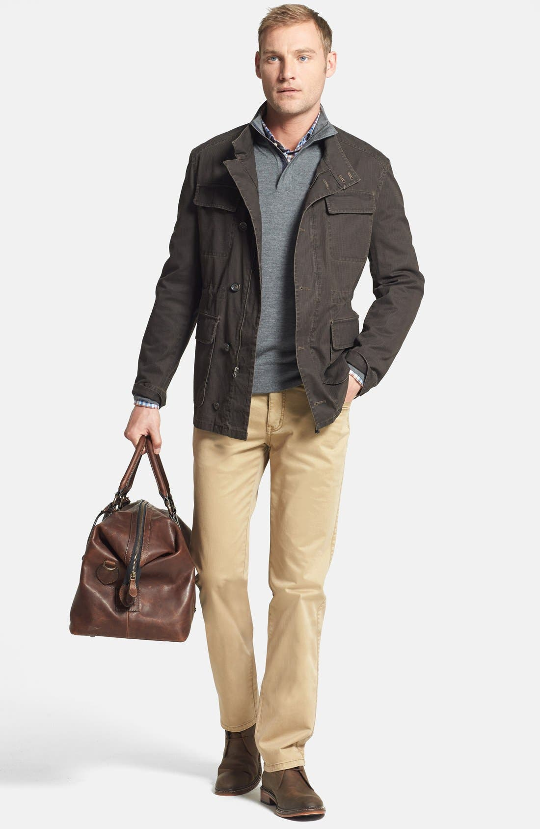 Alternate Image 5  - Frye 'Logan' Leather Overnight Bag (Online Only)