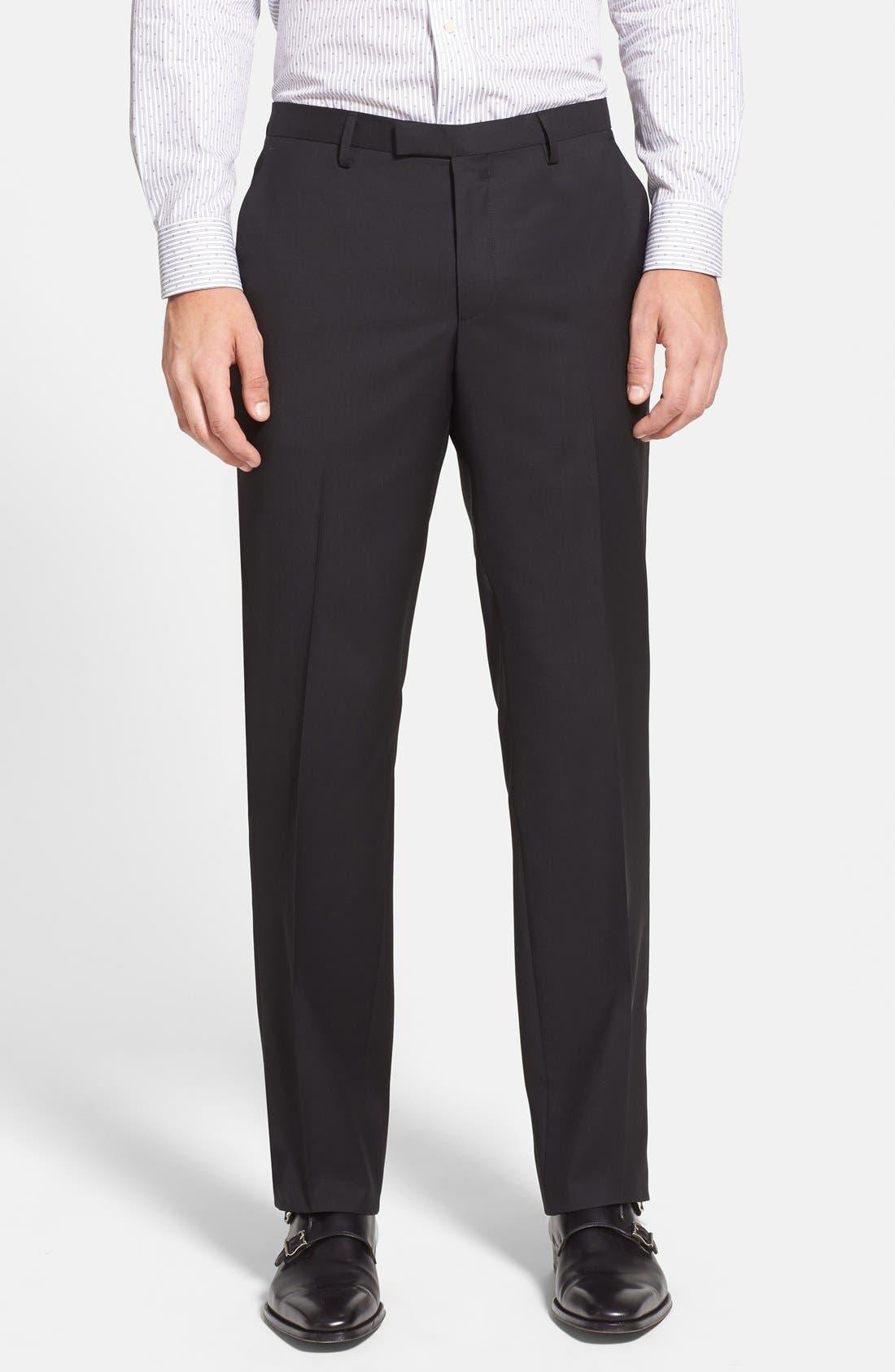 Alternate Image 4  - BOSS 'James/Sharp' Trim Fit Black Super 120s Wool Suit