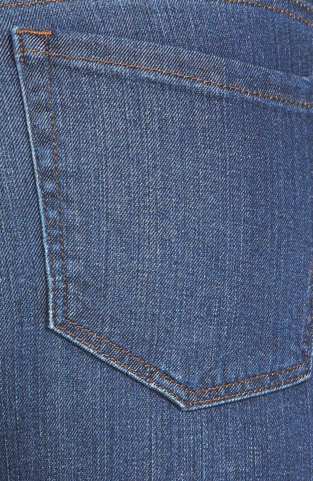 Alternate Image 3  - !iT Collective 'Lauren' Stretch Skinny Jeans (Blue Velvet)