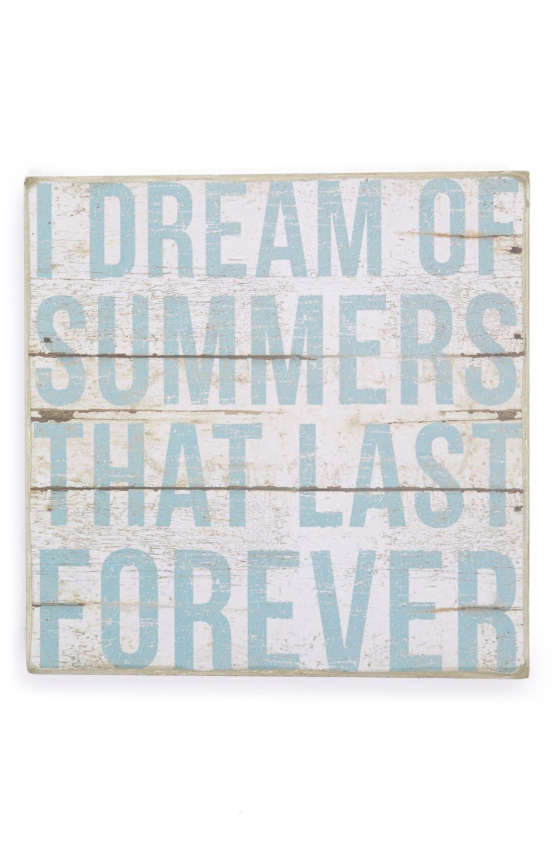 Main Image - Primitives by Kathy 'I Dream of Summers that Last Forever' Box Sign