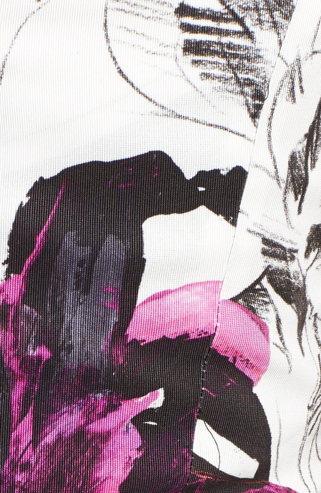Alternate Image 3  - Milly 'Winter Orchid Sophia' Print Faille Sheath Dress