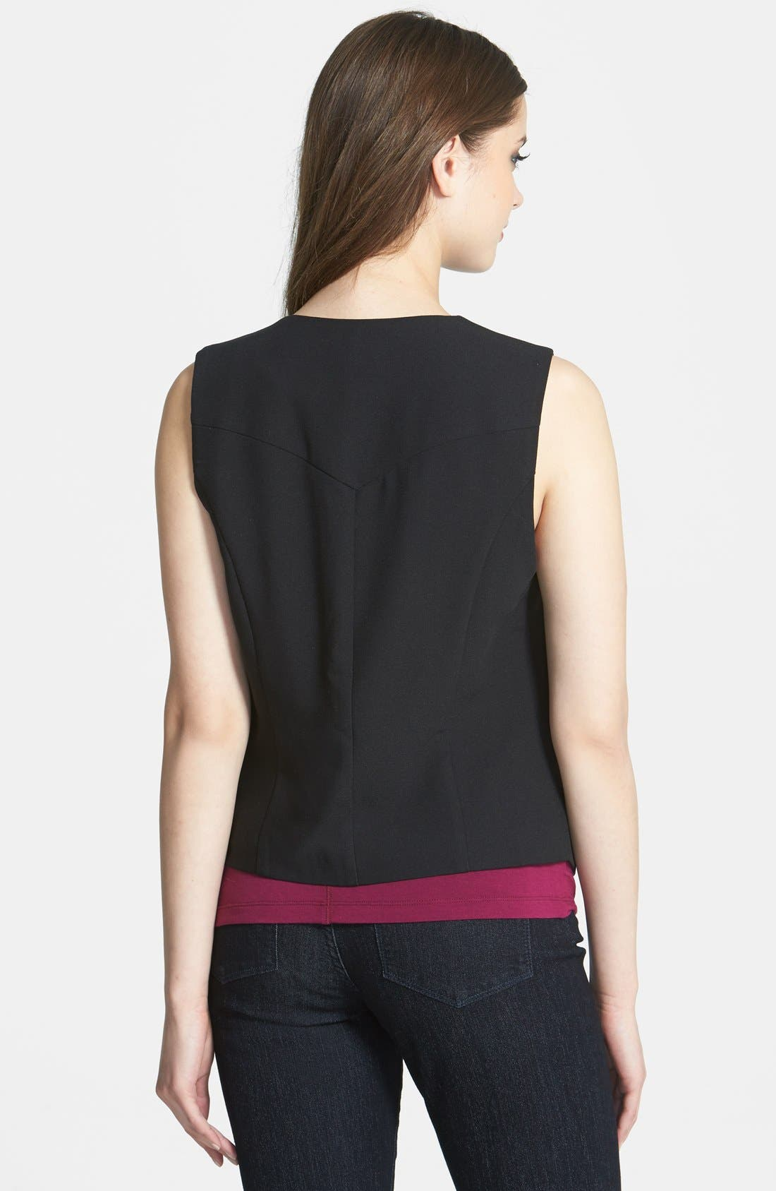 Alternate Image 2  - Bellatrix Drape Front Crepe Vest (Regular & Petite)