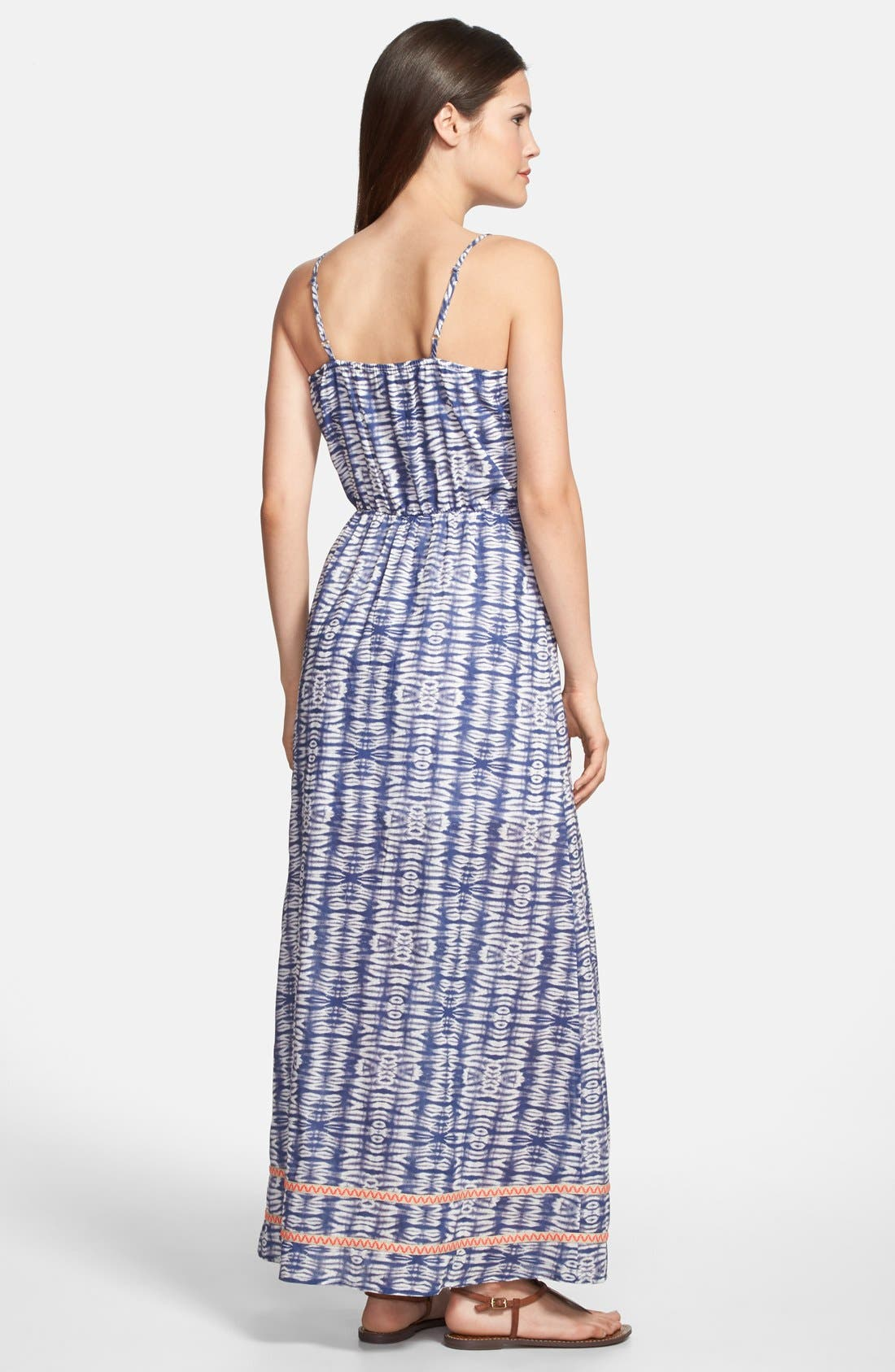 Alternate Image 2  - Olive & Oak Tie Dye Cotton Maxi Dress
