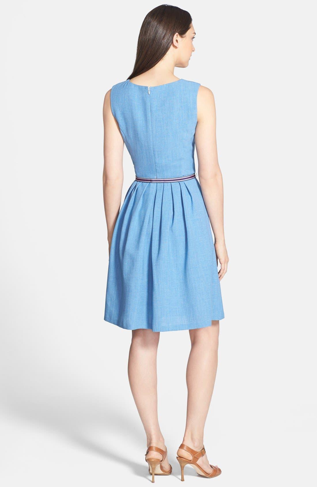 Alternate Image 2  - Ellen Tracy Belted Fit & Flare Dress (Petite)