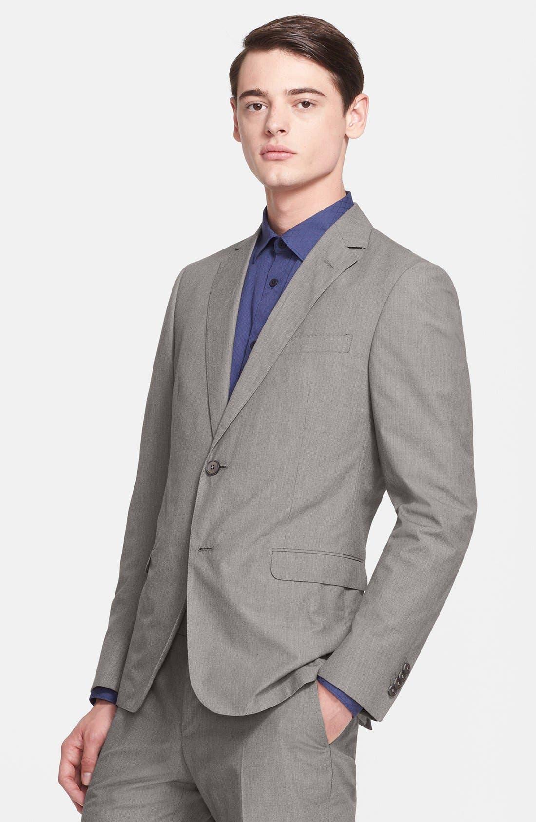 Alternate Image 3  - Z Zegna Extra Trim Fit Grey Cotton Suit