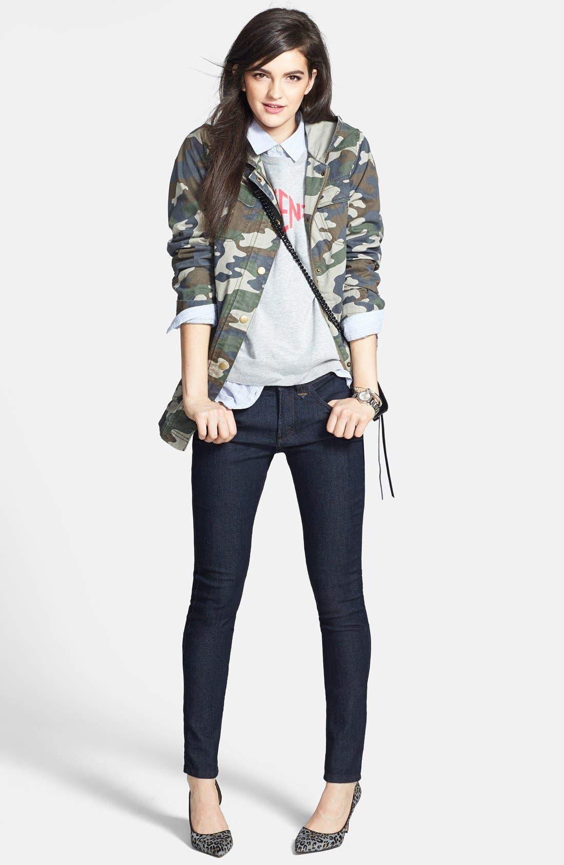 Alternate Image 4  - NYDJ 'Ami' Contrast Stitch Stretch Skinny Jeans (Dark Enzyme)