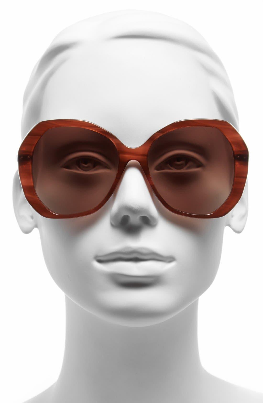 Alternate Image 2  - Bottega Veneta 56mm Retro Sunglasses