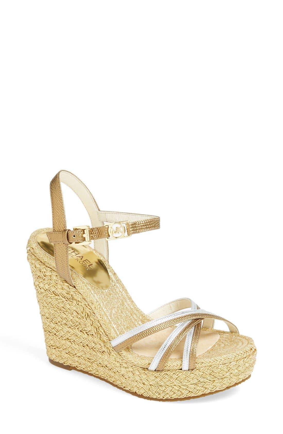Main Image - MICHAEL Michael Kors 'Cicely' Quarter Strap Sandal