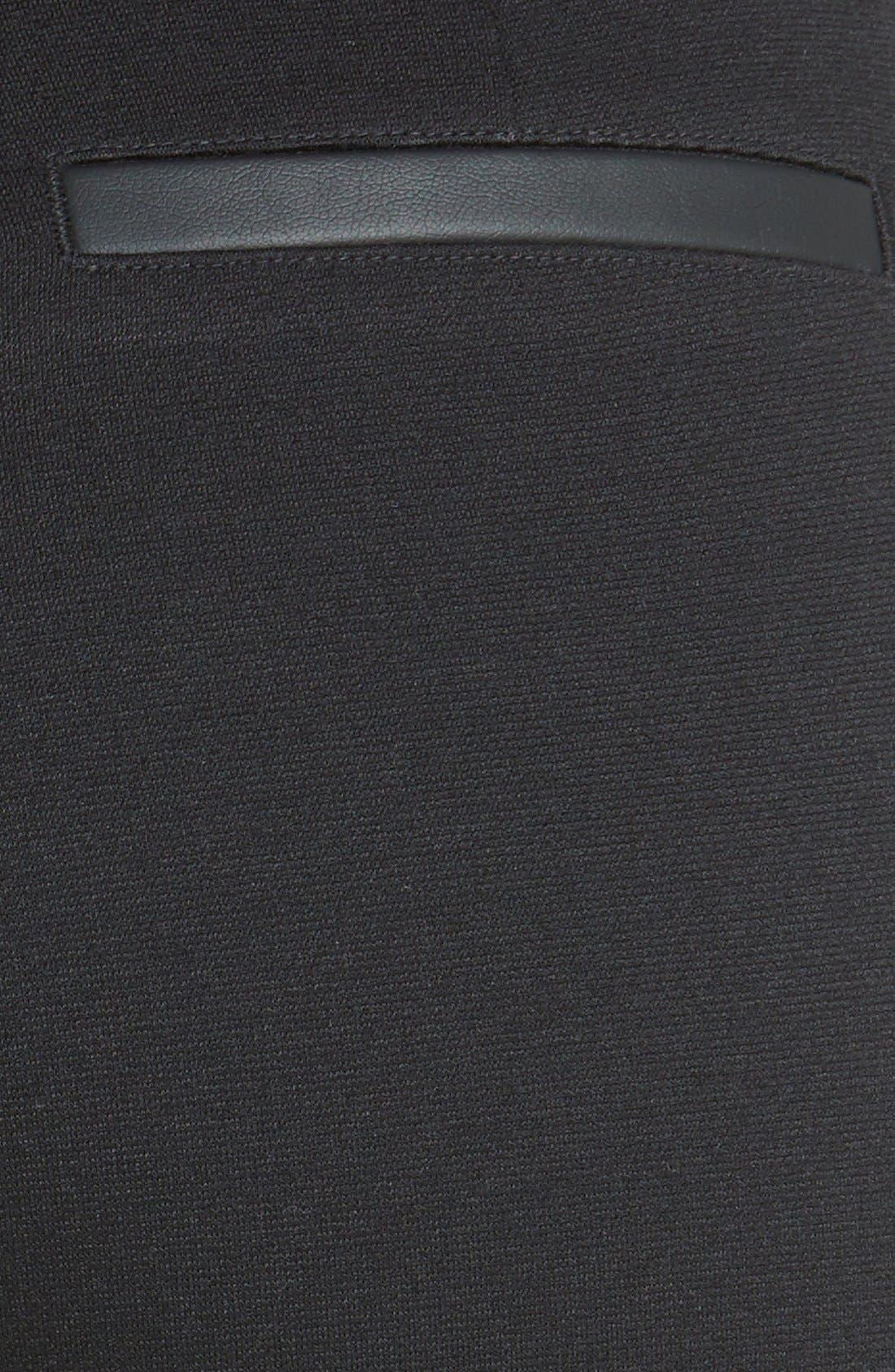 Alternate Image 4  - Halogen® Faux Leather Trim Skinny Ankle Pants (Regular & Petite)