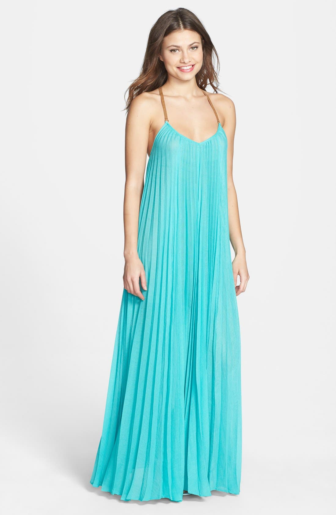 Main Image - BCBGMAXAZRIA 'Brynna' T-Strap Back Maxi Dress