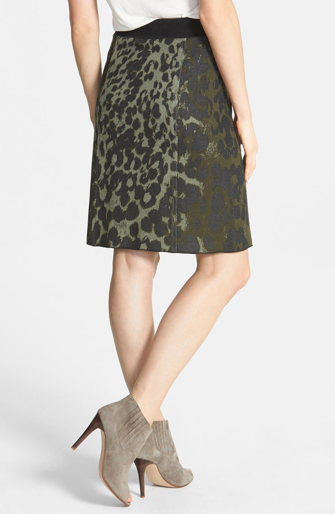 Alternate Image 2  - NIC+ZOE Print Knit Skirt