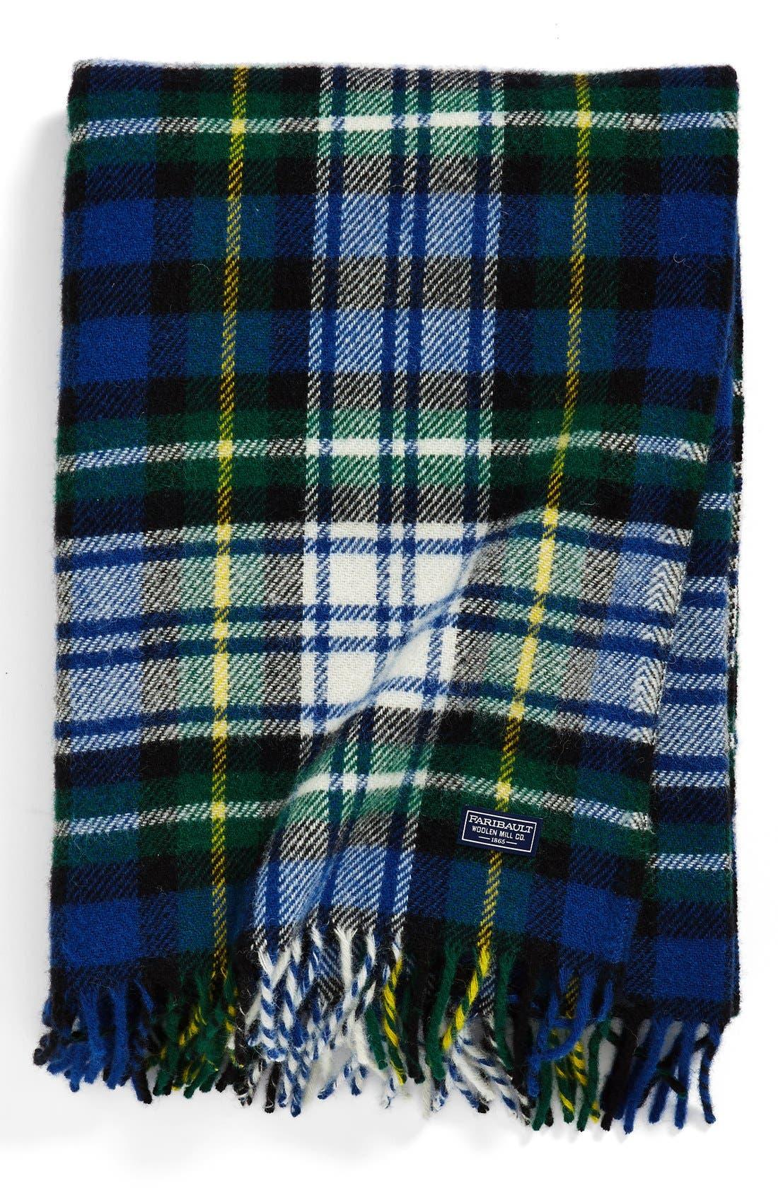 Alternate Image 1 Selected - Faribault Woolen Mill 'Stewart Plaid' Wool Throw Blanket