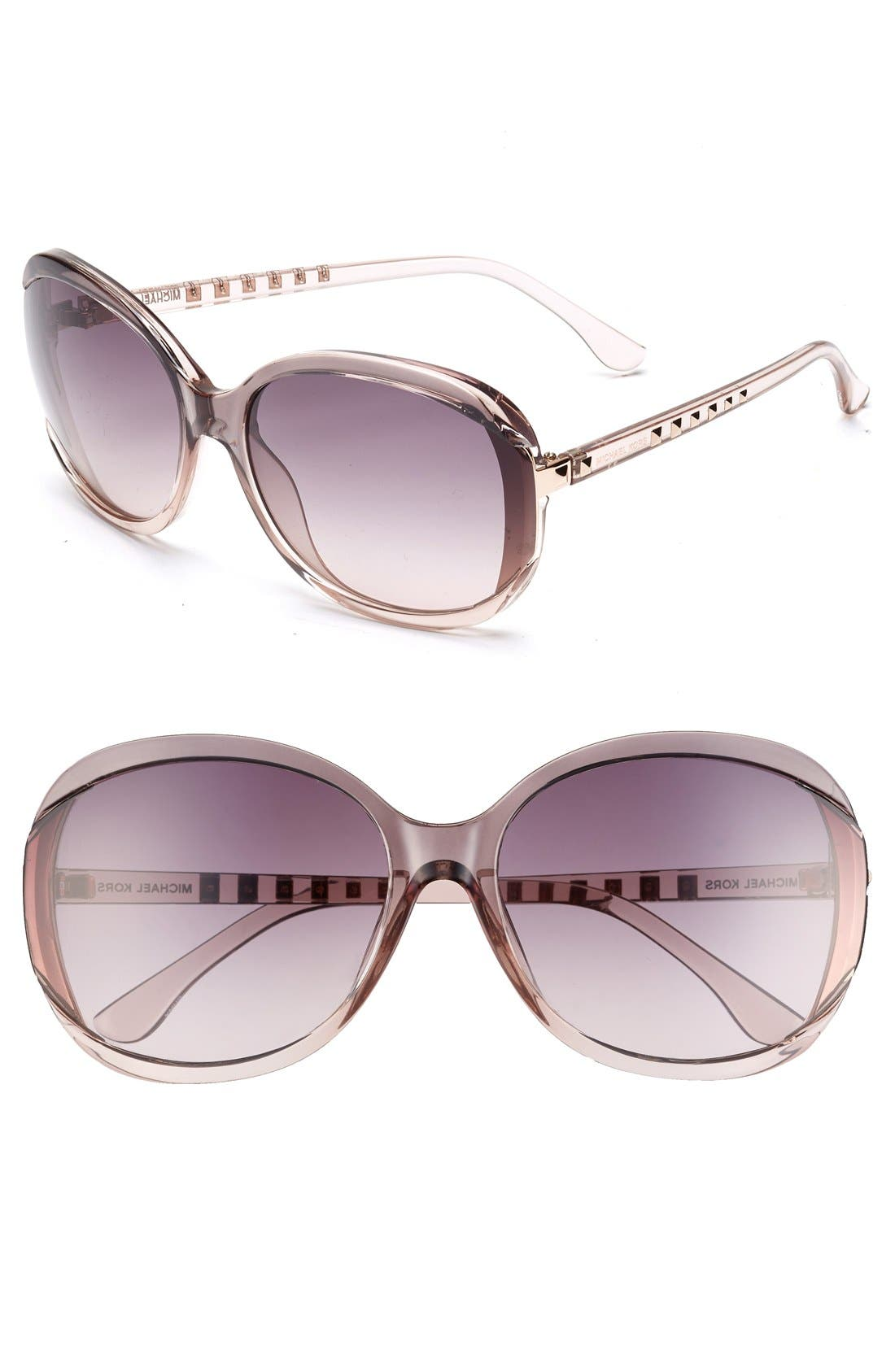 Alternate Image 1 Selected - MICHAEL Michael Kors 'Kinsey' 64mm Gradient Lens Sunglasses