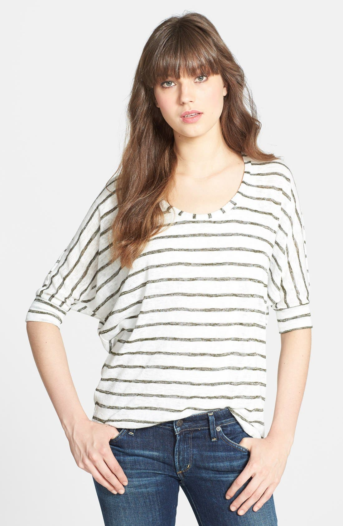 Alternate Image 1 Selected - Olivia Moon Stripe Dolman Sleeve Sweater
