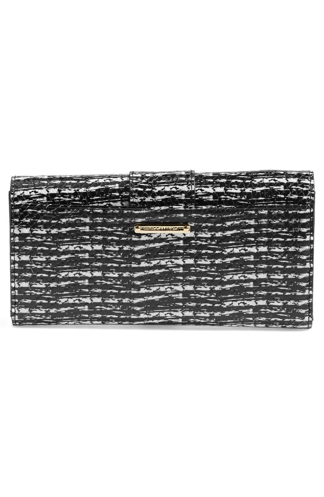 Alternate Image 3  - Rebecca Minkoff 'Mason' Snake Embossed Turnlock Wallet