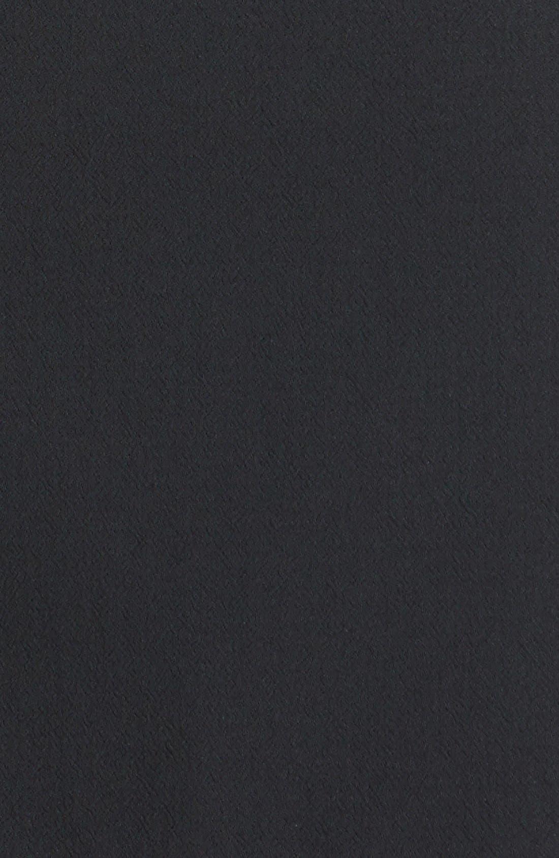 Alternate Image 3  - Halogen® 'Carbon' Zip Detail Crepe Dress