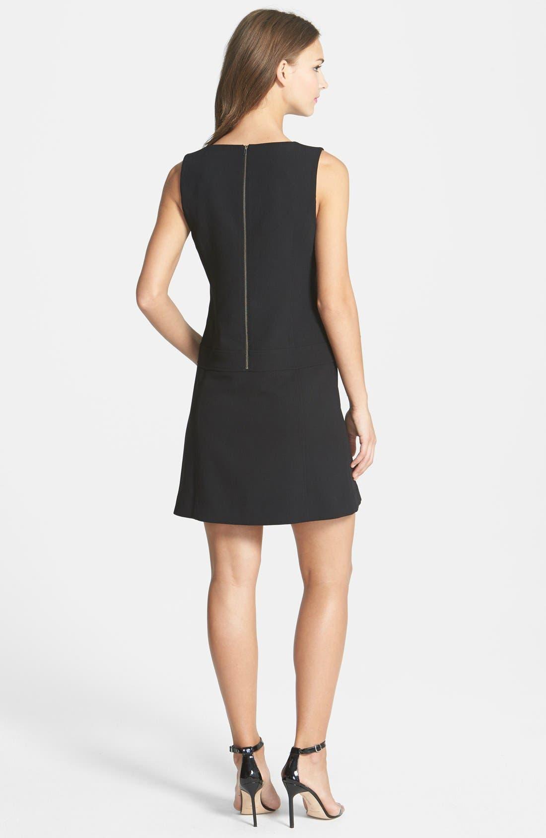 Alternate Image 2  - Halogen® 'Carbon' Zip Detail Crepe Dress