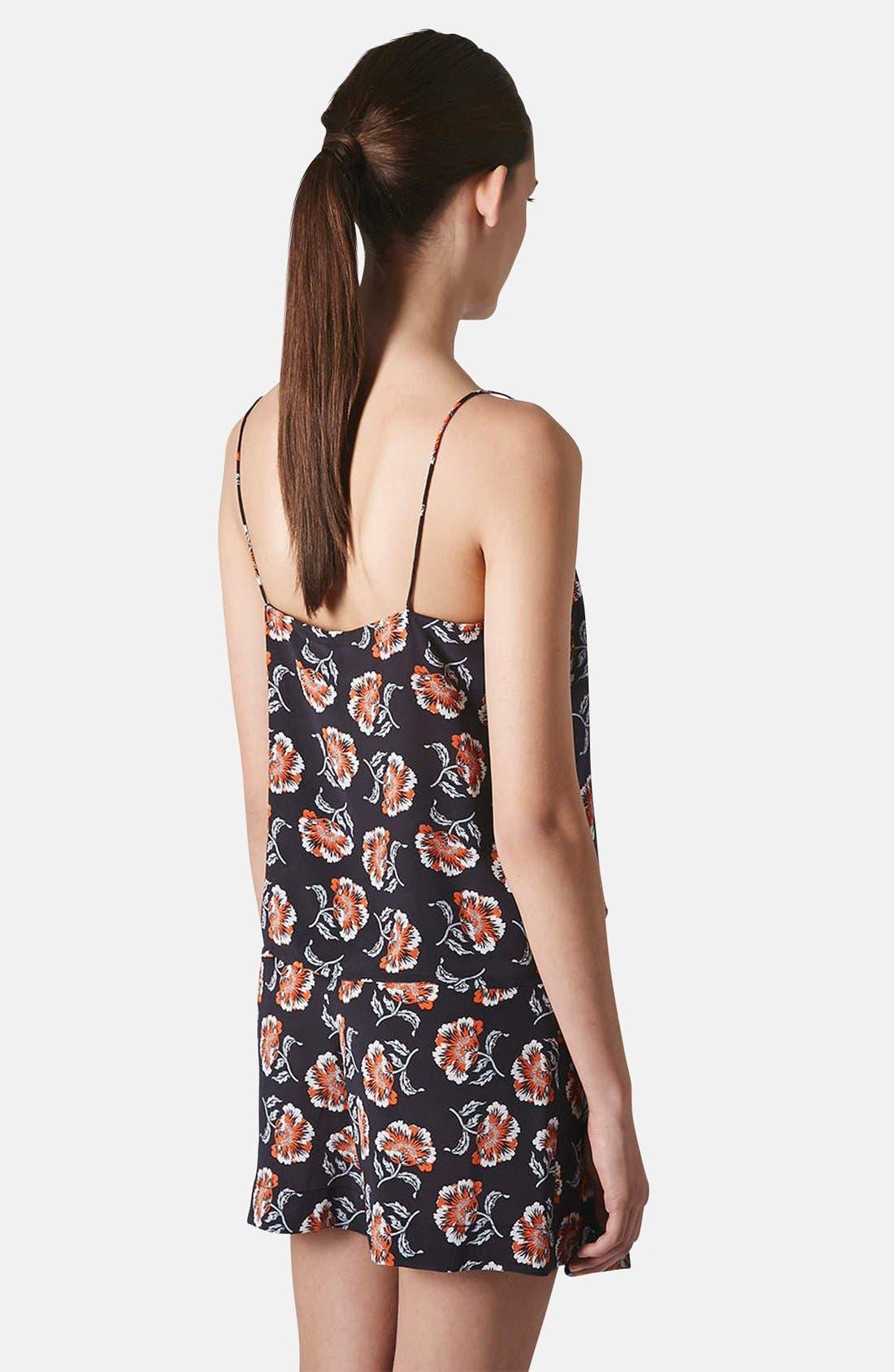 Alternate Image 2  - Topshop Boutique Floral Print Silk Camisole
