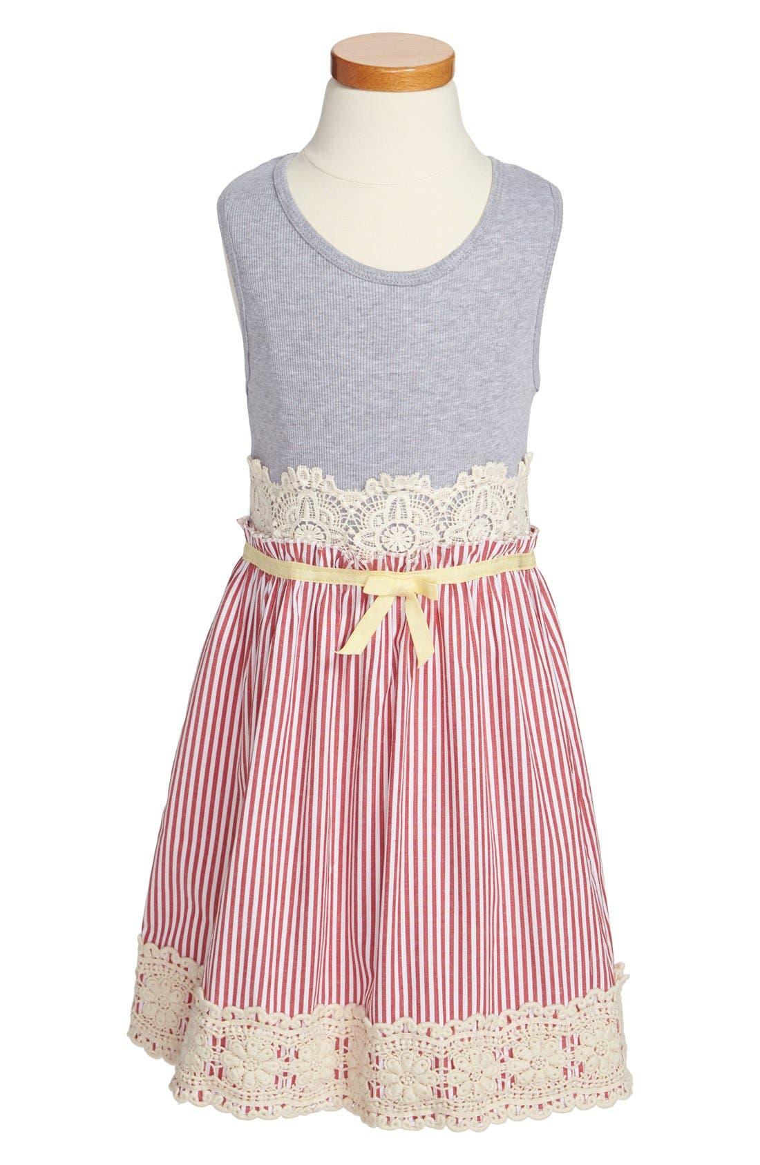 Alternate Image 1 Selected - Twirls & Twigs Sleeveless Dress (Little Girls & Big Girls)