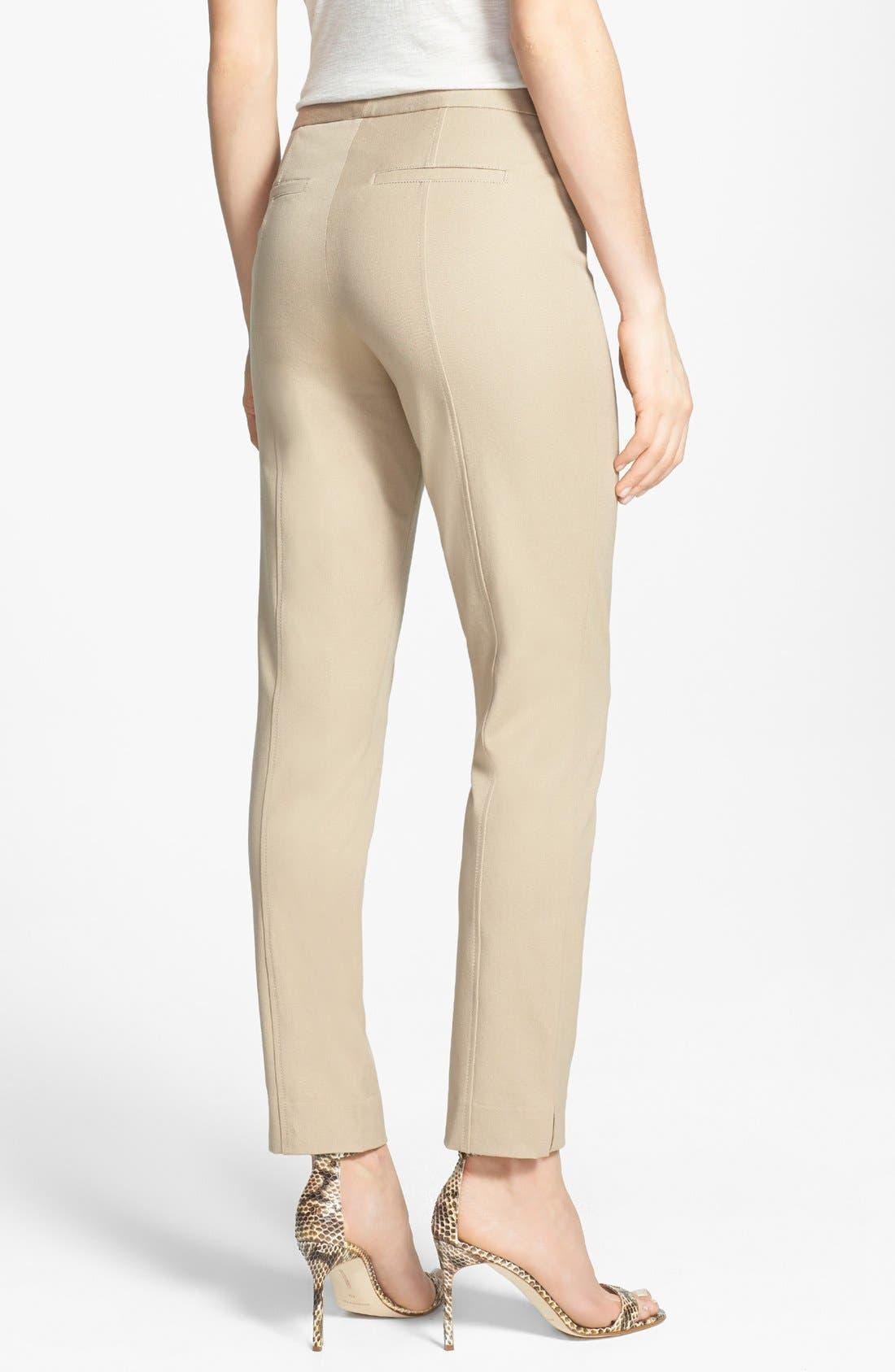 Alternate Image 2  - NYDJ Two-Way Stretch Ankle Straight Leg Pants (Regular & Petite)