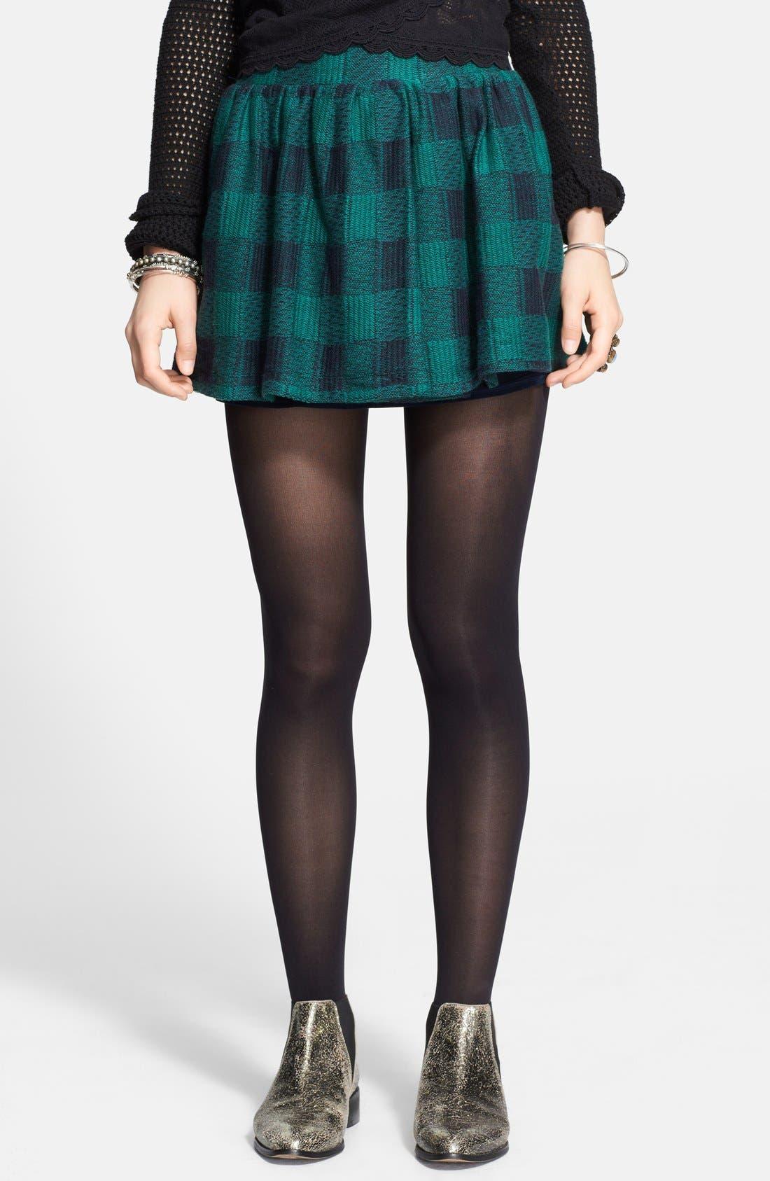 Main Image - Free People Plaid Flared Miniskirt