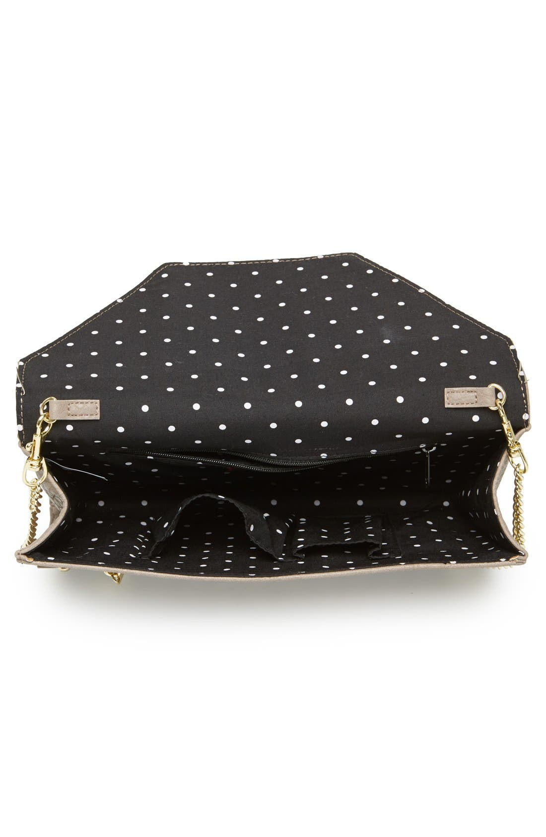 Alternate Image 3  - Lulu Zip Detail Clutch (Juniors)