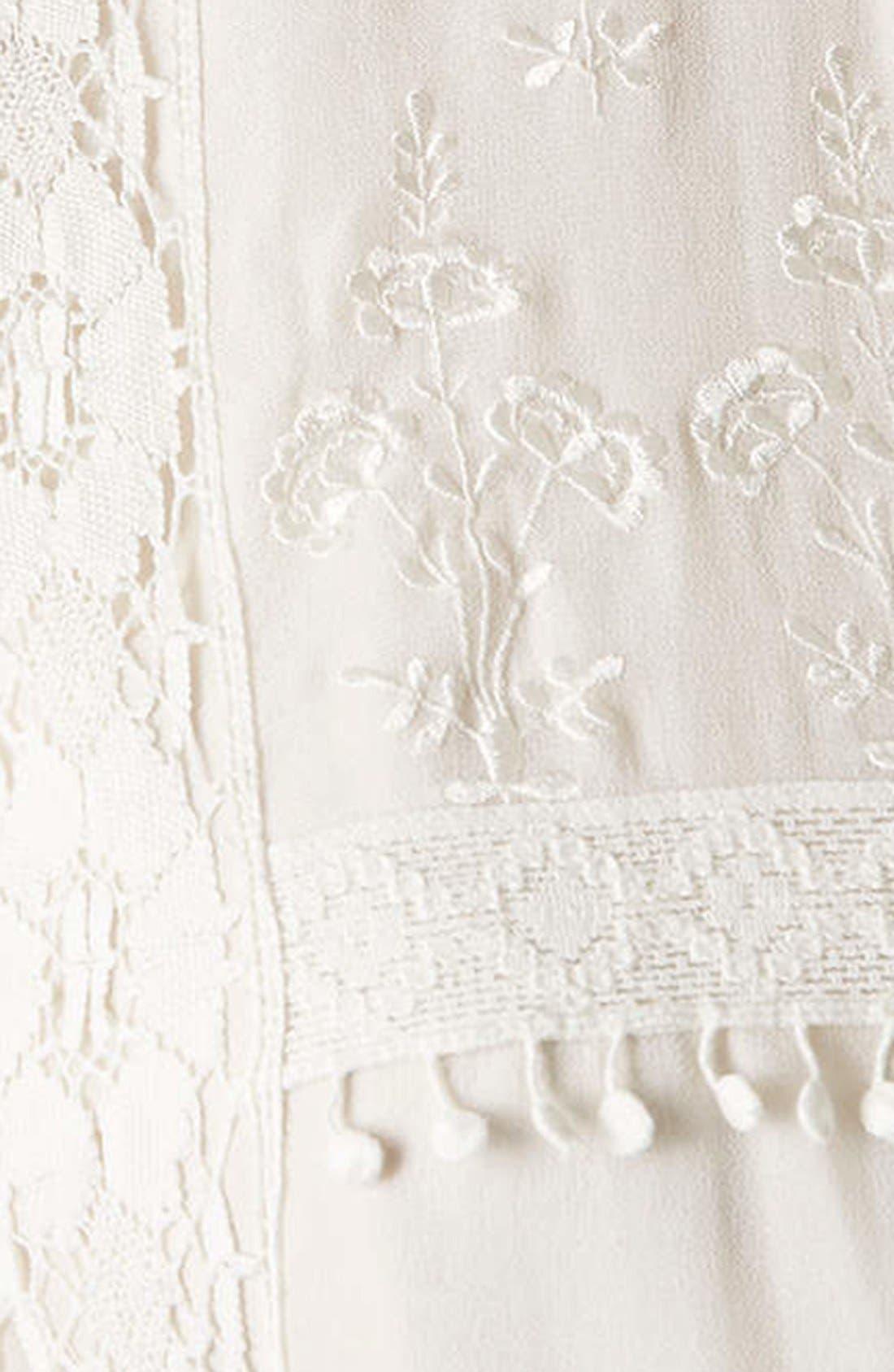 Alternate Image 4  - Topshop 'Victorina' Lace Detail Dress