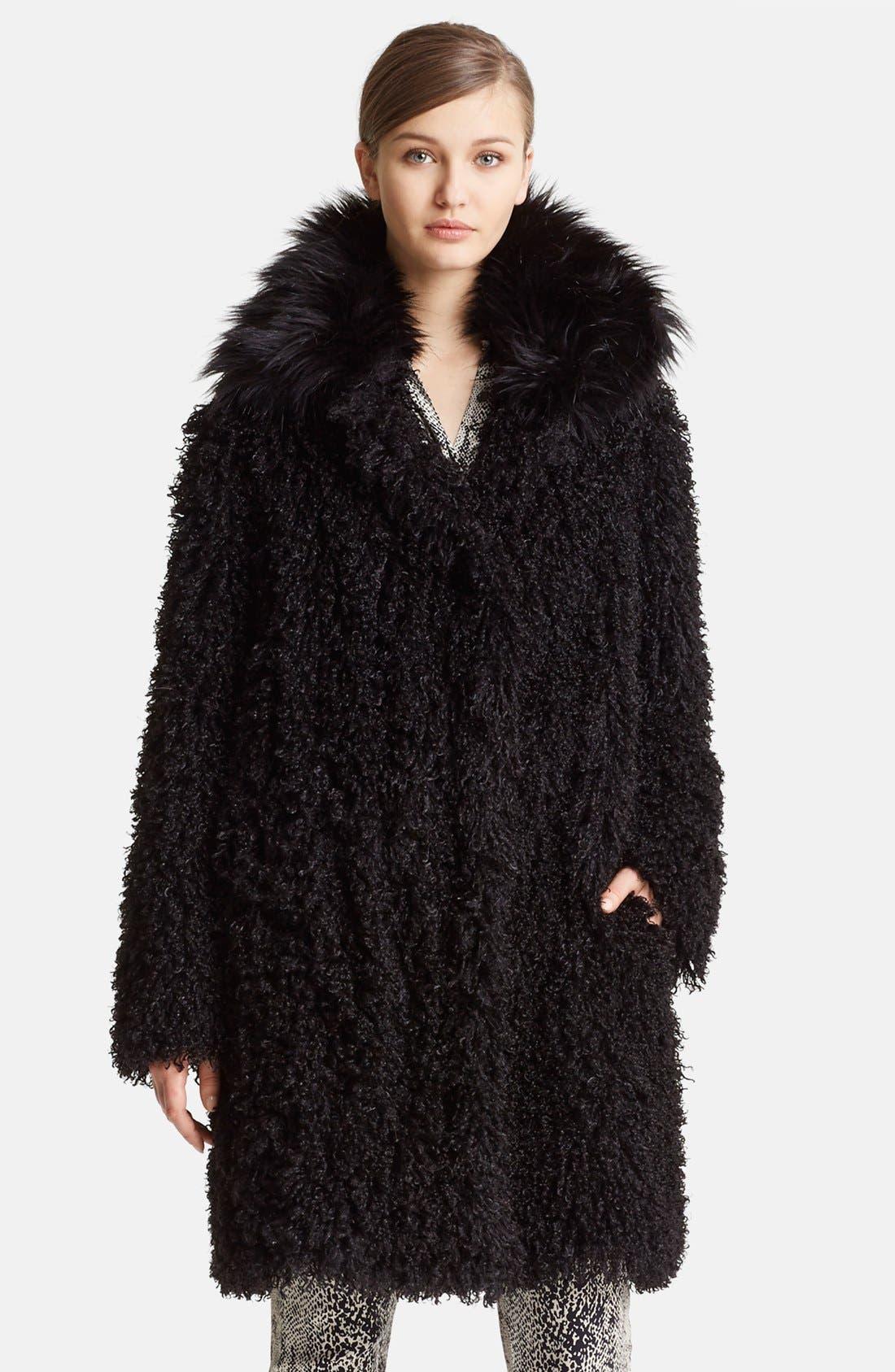 Main Image - Lanvin Faux Mongolian Fur Coat