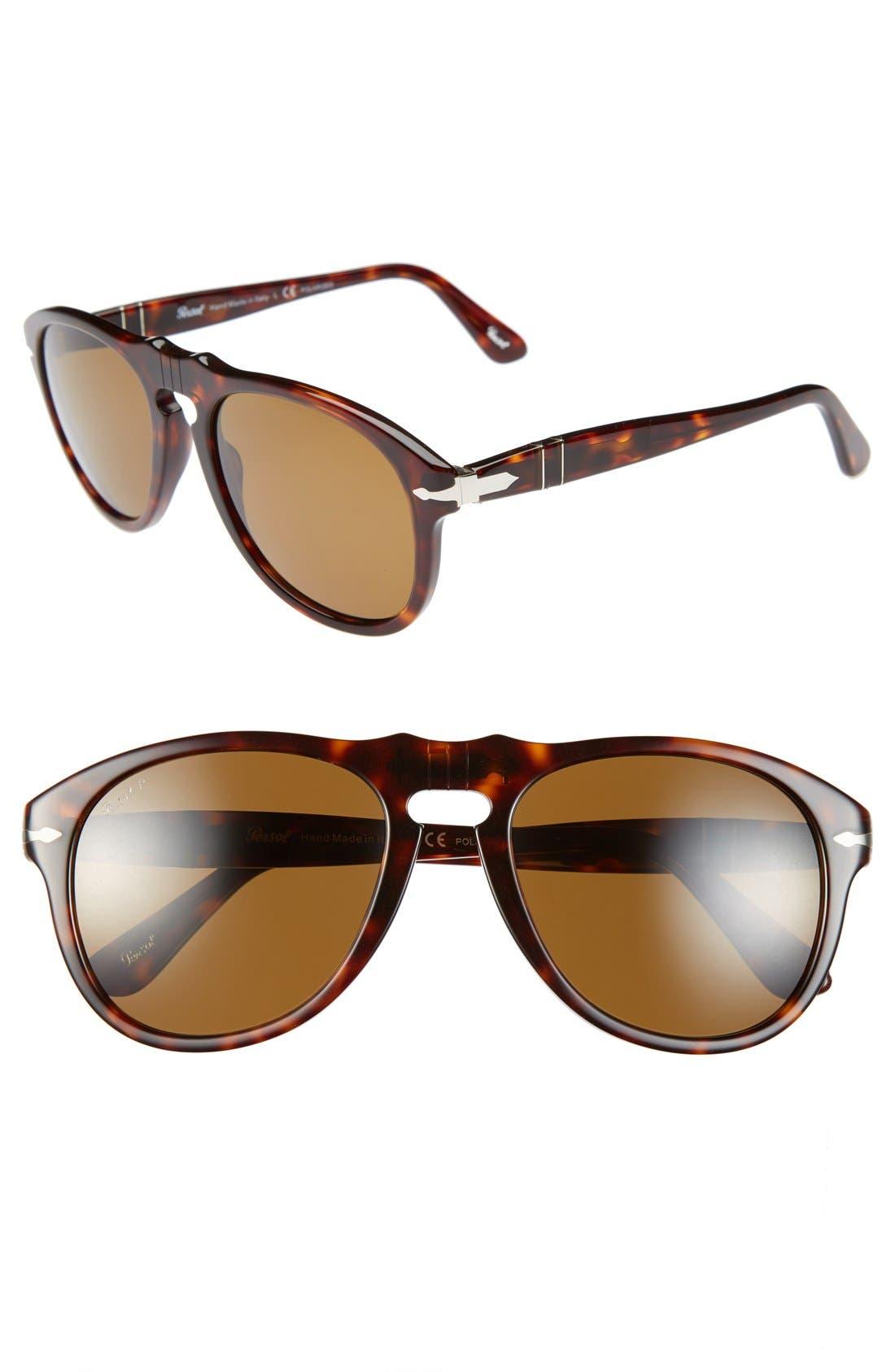 Persol 54mm Polarized Keyhole Retro Sunglasses