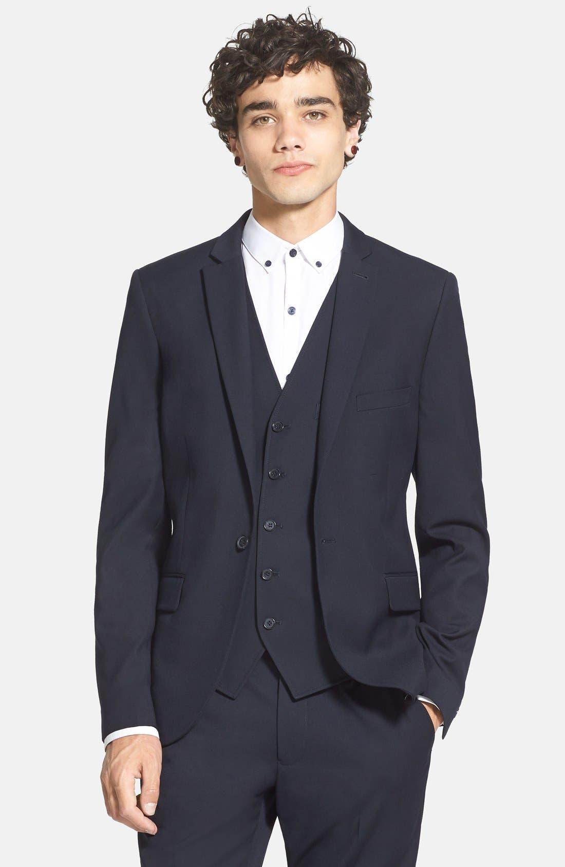 Alternate Image 1 Selected - Topman Skinny Fit Suit Jacket