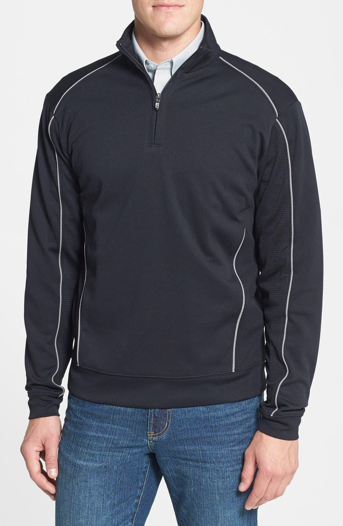 Alternate Image 1 Selected - Cutter & Buck 'DryTec® Edge' Half Zip Mesh Pullover