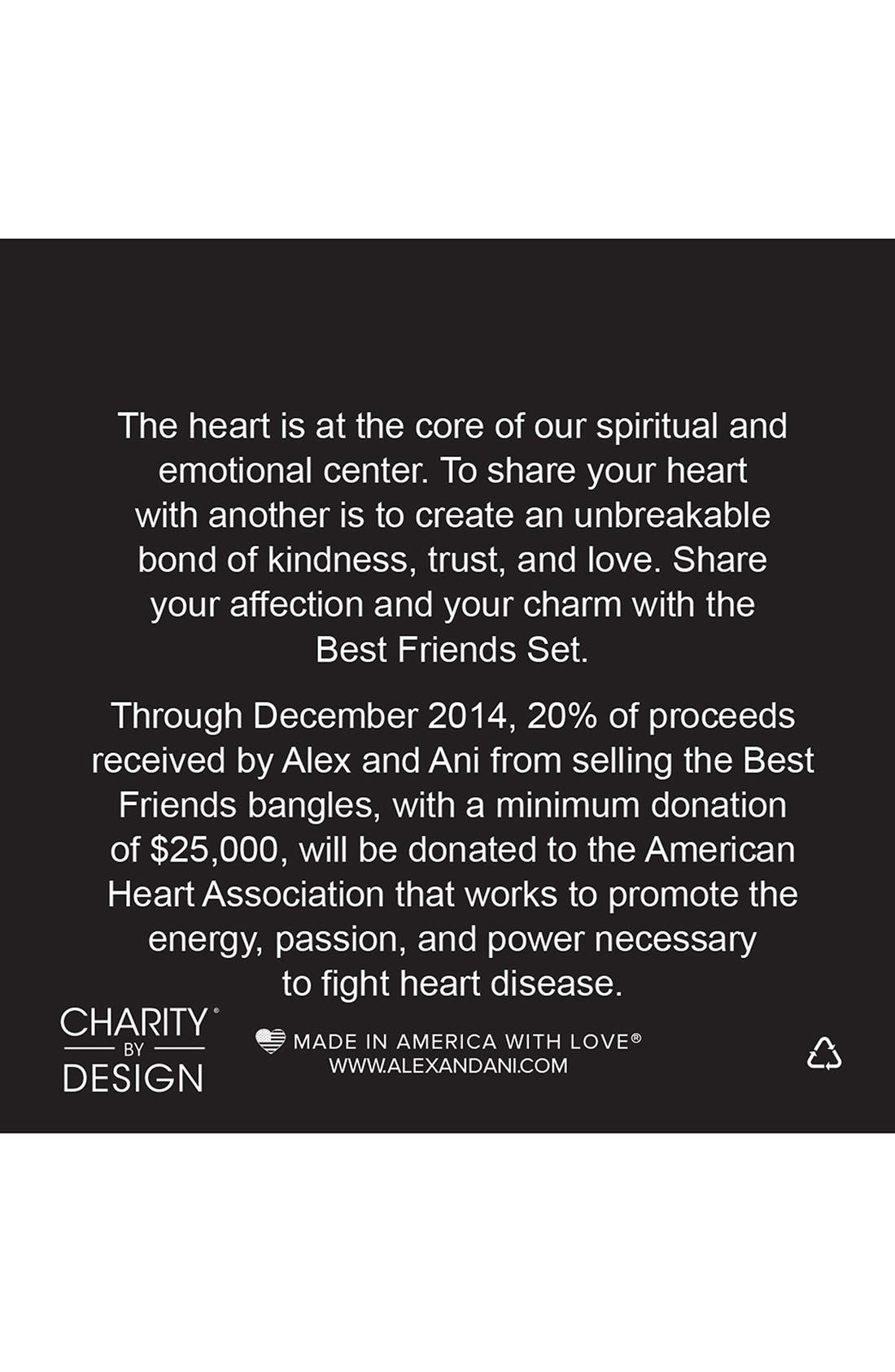 Alternate Image 2  - Alex and Ani 'Charity by Design - Best Friends' Adjustable Wire Bangles (Set of 2)