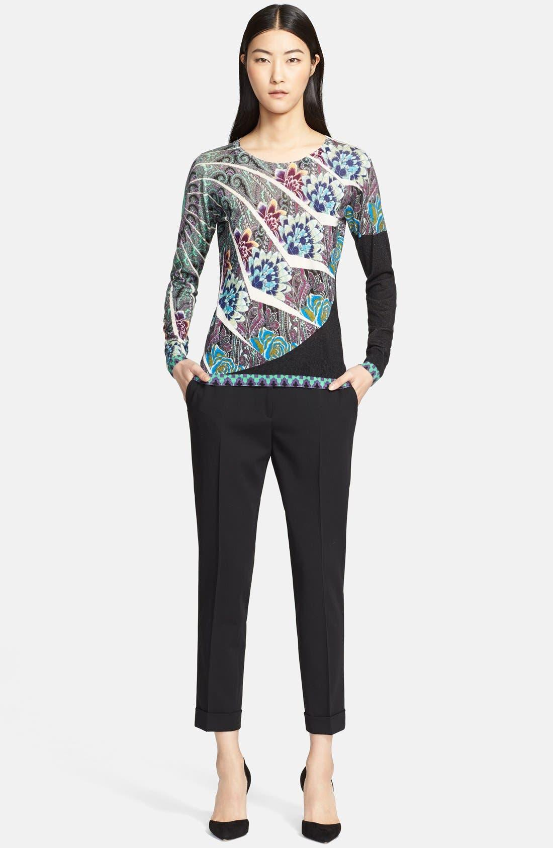 Alternate Image 3  - Etro Floral Mandala Print Silk & Cashmere Top