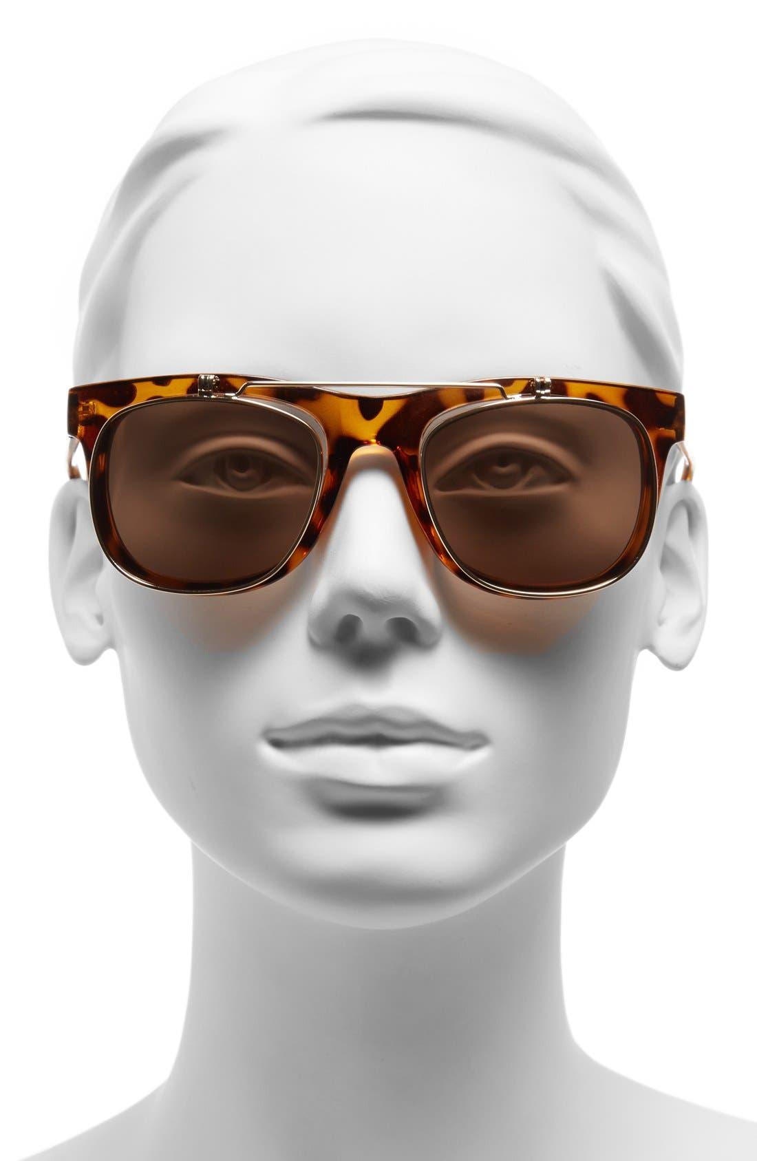 Alternate Image 2  - FE NY 51mm Flip-Up Sunglasses