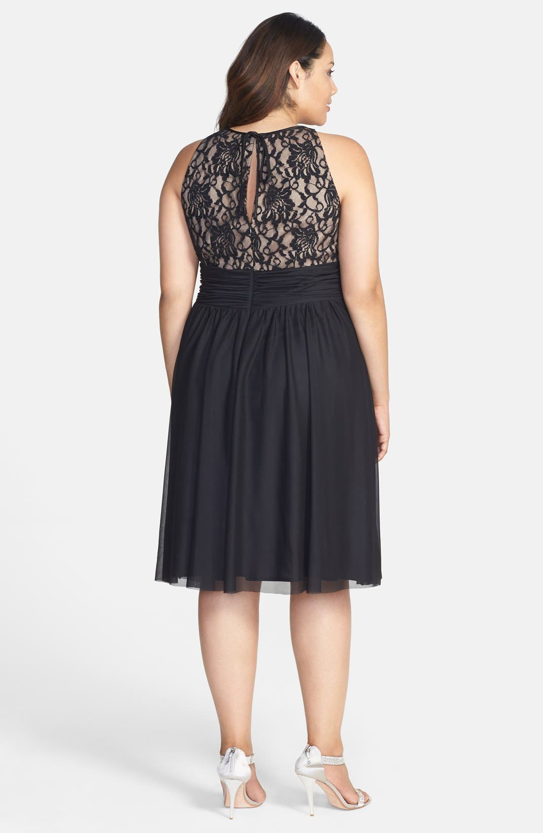 Alternate Image 2  - Jessica Howard Beaded Waist Fit & Flare Dress (Plus Size)