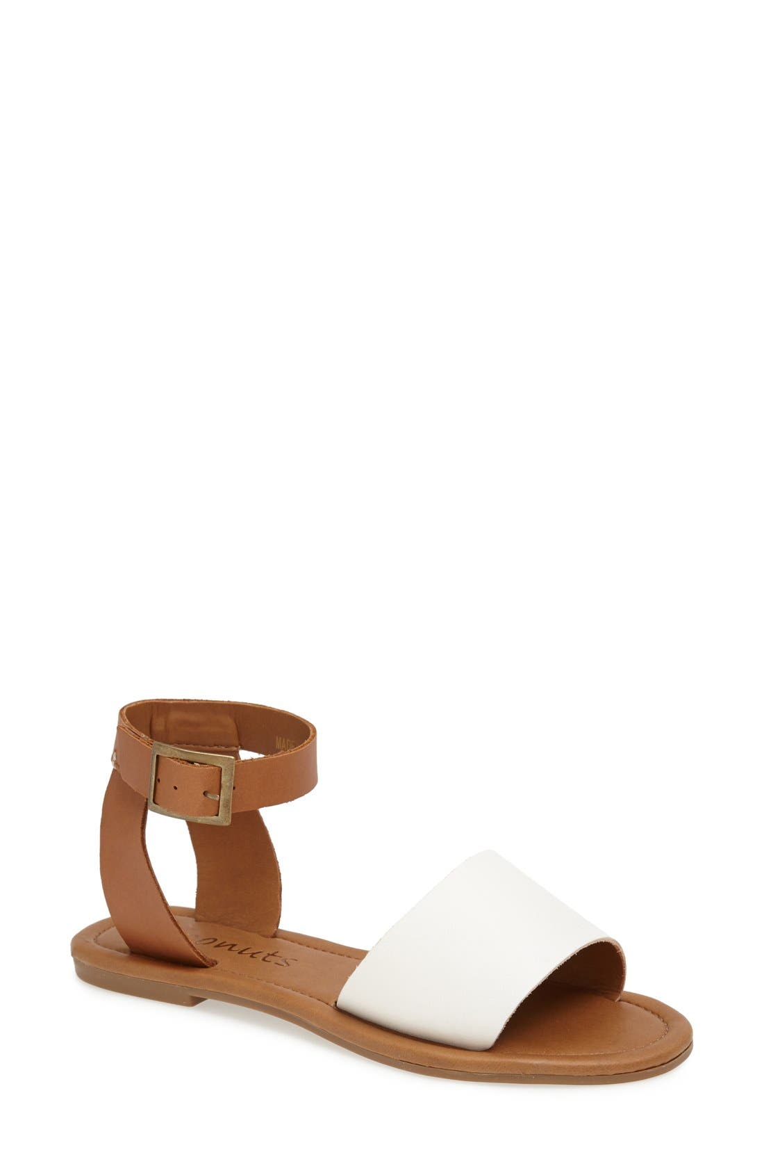 Alternate Image 1 Selected - Coconuts by Matisse 'All About' Leather Ankle Strap Sandal