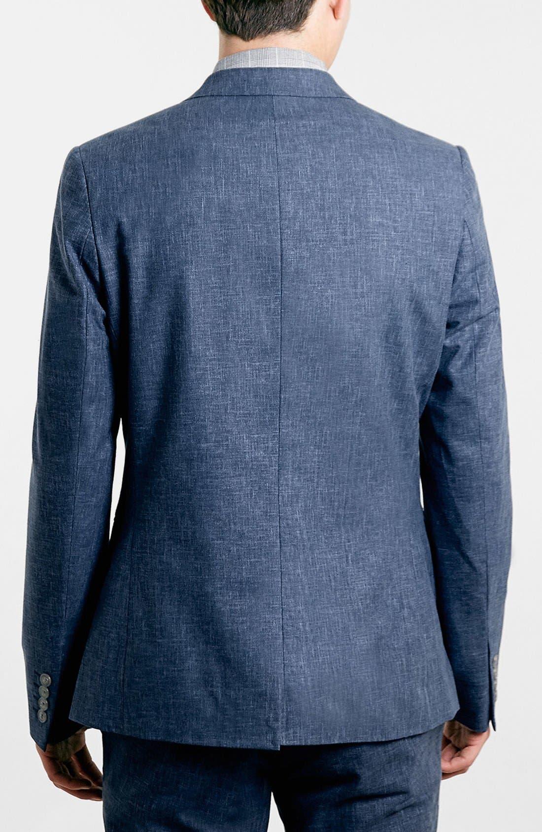 Alternate Image 2  - Topman Indigo Sport Coat