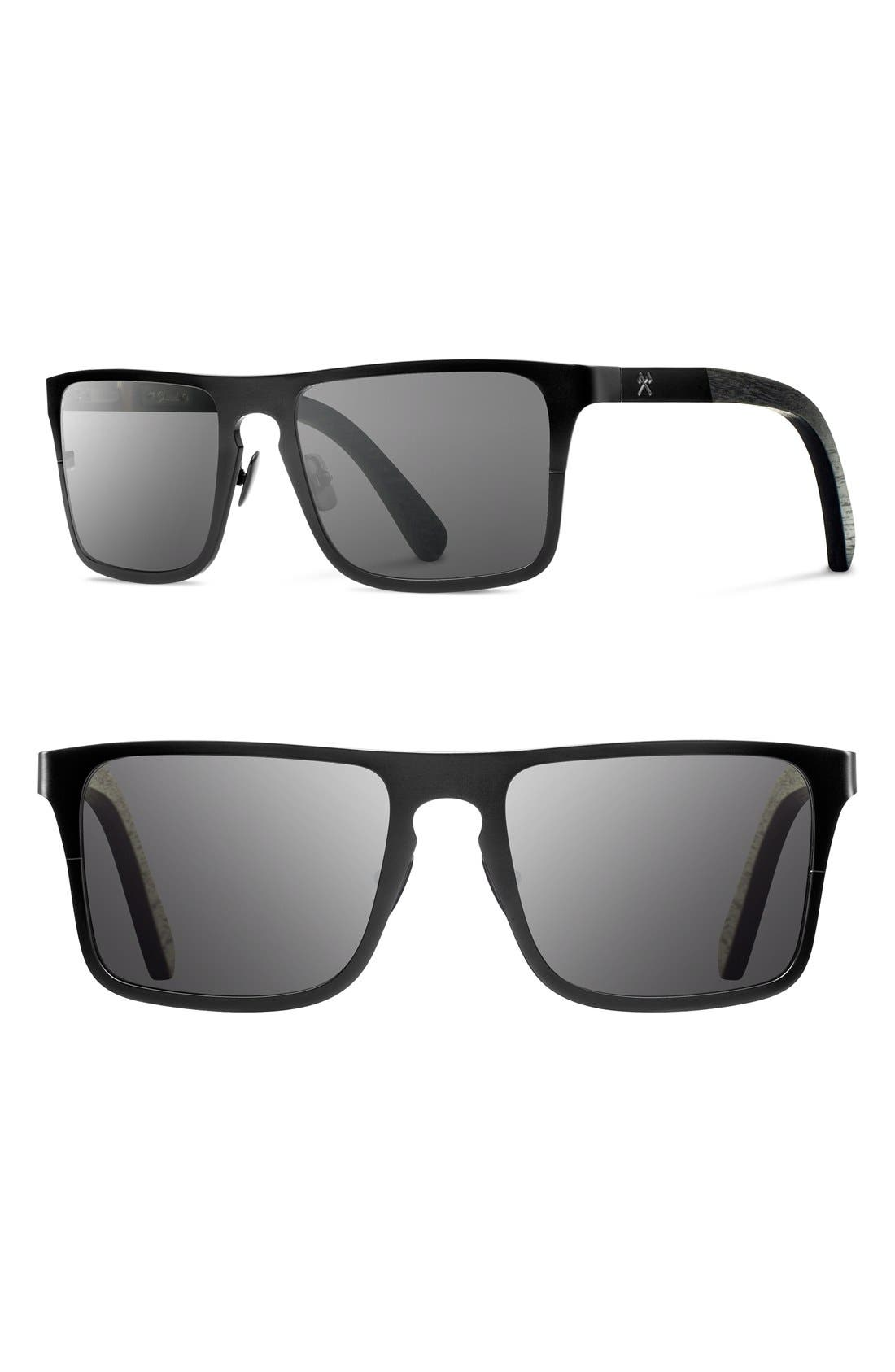 Main Image - Shwood 'Govy 2' 53mm Titanium & Wood Sunglasses