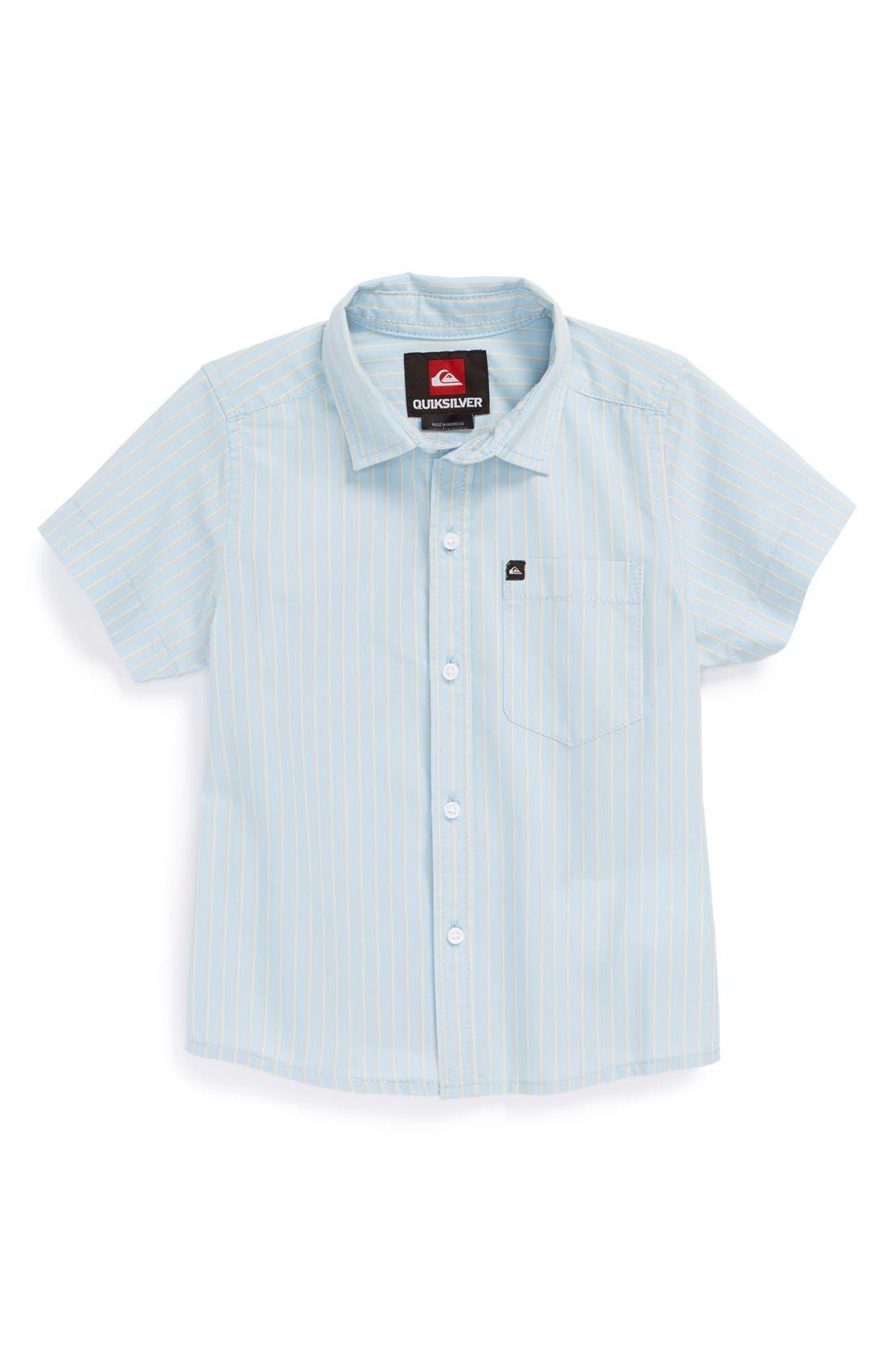 Alternate Image 1 Selected - Quiksilver 'Barracuda Cay' Short Sleeve Woven Shirt (Little Boys & Big Boys)