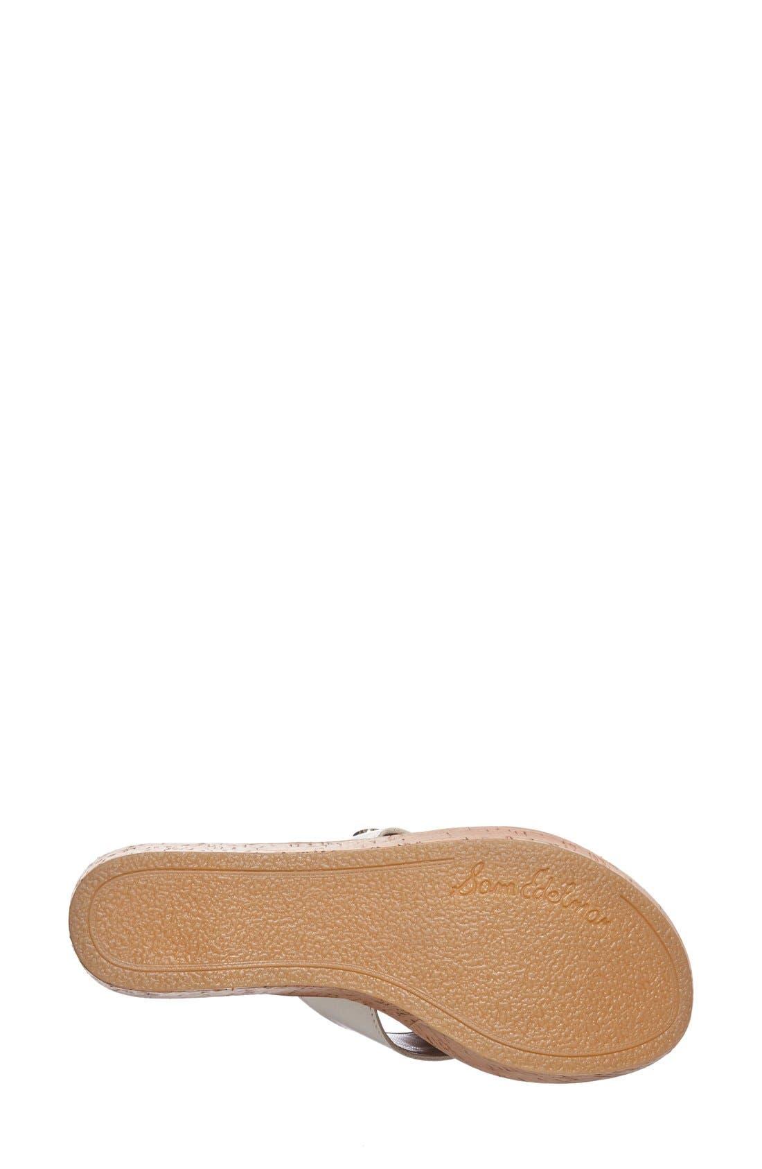 Alternate Image 4  - Sam Edelman 'Romy' Wedge Sandal (Women)