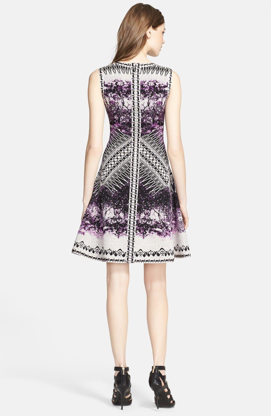 Alternate Image 2  - Herve Leger Sleeveless A-Line Dress