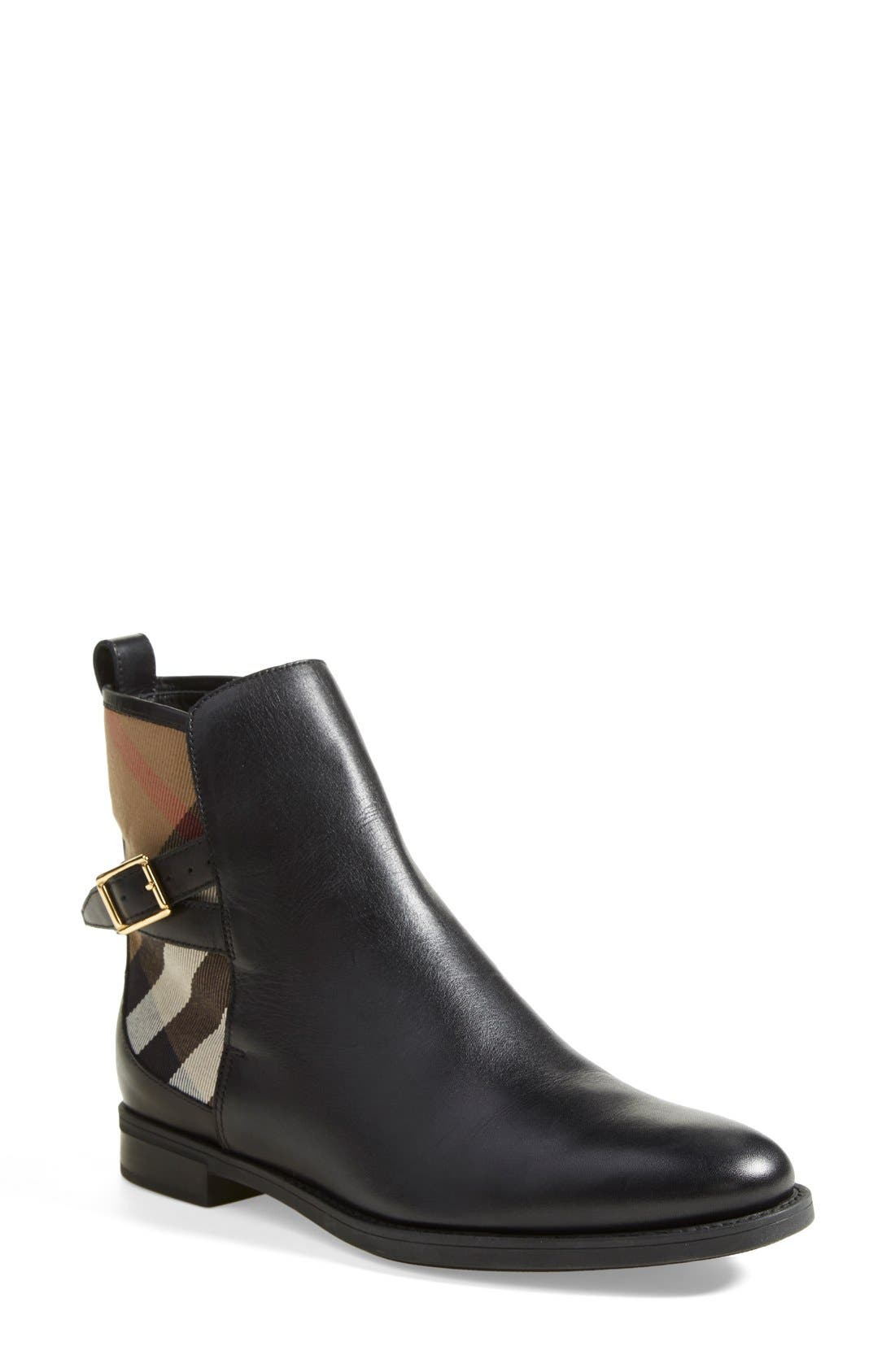 Alternate Image 1 Selected - Burberry 'Richardson' Leather Boot (Women)
