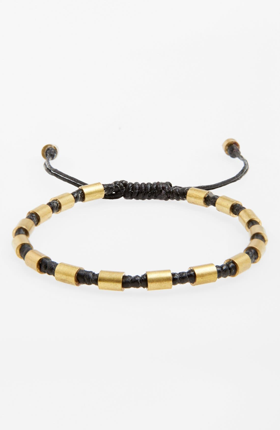 Main Image - Max Reed Beaded Waxed Cord Bracelet