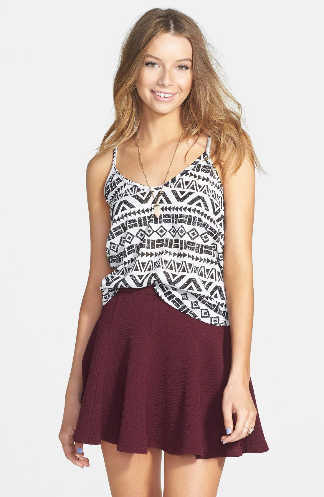 Main Image - Lush Textured Skater Skirt