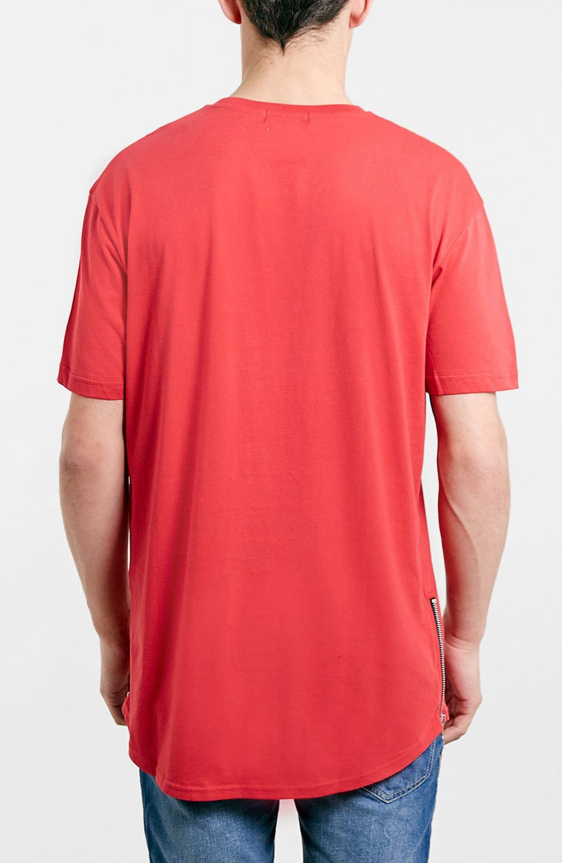 Alternate Image 2  - Topman Zip Detail Crewneck T-Shirt